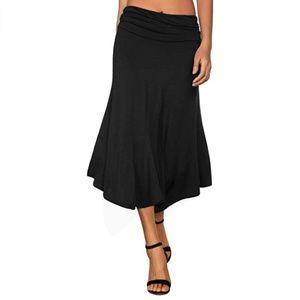 Flowy Handkerchief Hemline Midi Skirt